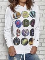 Biała bluza z kapturem Funk n Soul