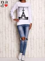Biała bluza z motywem Wieży Eiffla