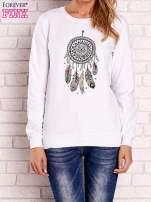 Biała bluza z nadrukiem łapacza snów