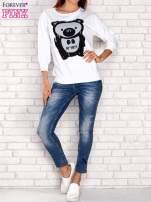 Biała bluza z nadrukiem pandy                                  zdj.                                  4
