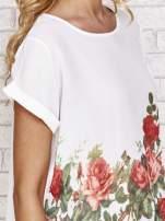 Biała koszula z motywem kwiatów                                  zdj.                                  5