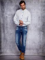 Biała kraciasta koszula męska PLUS SIZE                                  zdj.                                  4