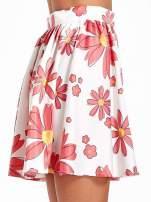 Biała rozkloszowana spódnica skater w kwiaty                                  zdj.                                  5
