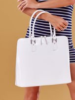 Biała torba damska z odpinanym paskiem                                  zdj.                                  5