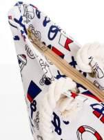 Biała torba plażowa w kotwice                                  zdj.                                  6