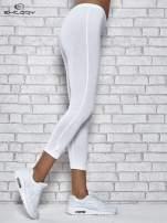 Ciemnofioletowe legginsy sportowe z patką z dżetów na dole                                                                          zdj.                                                                         5