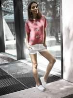 Białe materiałowe szorty z podwijaną nogawką                                  zdj.                                  8