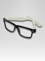 Białe okulary zerówki kujonki typu WAYFARER NERDY                                  zdj.                                  2