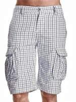 Białe szorty męskie w prążki