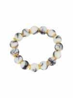 Biało - czarna Bransoletka koralikowa                                  zdj.                                  2