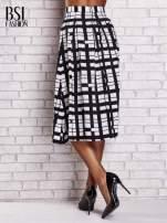 Biało-czarna spódnica maxi w kratę i geometryczne wzory                                                                          zdj.                                                                         3