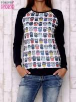 Biało-granatowa bluza z sowami                                  zdj.                                  1