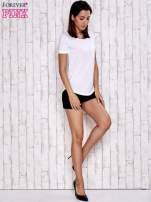 Biały gładki t-shirt basic                                                                          zdj.                                                                         2