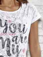 Biały półtransparentny t-shirt z napisem YOU ARE MY STAR                                  zdj.                                  5