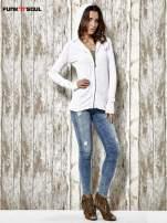 Biały sweter z kapturem zasuwany na suwak Funk n Soul                                                                          zdj.                                                                         8