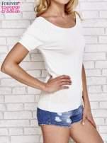 Biały sweterek z opadającymi ramionami                                  zdj.                                  3
