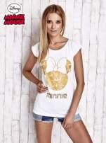 Biały t-shirt MINNIE MOUSE                                  zdj.                                  3