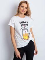 Biały t-shirt SHAKE IT UP                                  zdj.                                  1