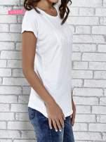 Biały t-shirt damski z napisem WHITE                                  zdj.                                  3