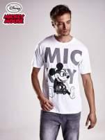 Biały t-shirt męski MICKEY MOUSE                                                                           zdj.                                                                         2