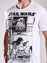 Biały t-shirt męski STAR WARS                                  zdj.                                  7
