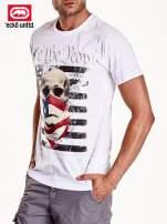 Biały t-shirt  nadrukiem czaszki