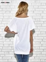 Biały t-shirt z lodowym nadrukiem Funk n Soul                                                                          zdj.                                                                         4
