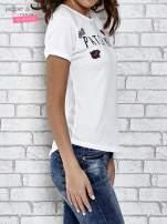 Biały t-shirt z napisem PATCH ME                                  zdj.                                  3