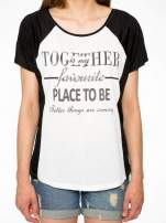 Biały t-shirt z napisem TOGETHER IS MY FAVOURITE PLACE TO BE                                                                          zdj.                                                                         7
