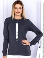 Bluza damska BARAN znak zodiaku grafitowa                                  zdj.                                  1