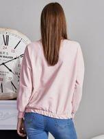 Bluza oversize z cekinowym kotem różowa                                  zdj.                                  2
