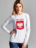 Bluza patriotyczna POLSKA z nadrukiem Orła Białego jasnoszara