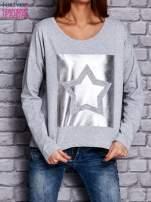 Bluza z motywem gwiazdy jasnoszara                                  zdj.                                  1