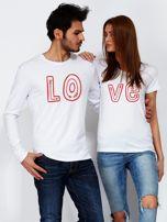 Bluzka męska biała z początkiem napisu LOVE dla par                                  zdj.                                  3
