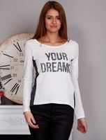 Bluzka z cekinami YOUR DREAMS ecru                                  zdj.                                  1