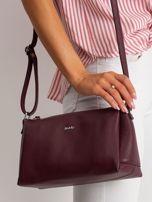 Bordowa damska torebka skórzana                                  zdj.                                  2