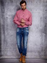 Różowa koszula męska PLUS SIZE                                  zdj.                                  4
