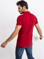 Bordowa męska koszulka polo Numerous                                  zdj.                                  2