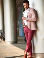 Bordowe bawełniane spodnie męskie chinosy                                   zdj.                                  4