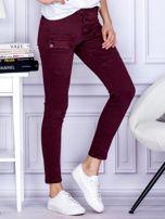 Bordowe spodnie z kieszeniami                                   zdj.                                  5