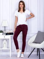 Bordowe spodnie z kieszeniami                                   zdj.                                  4