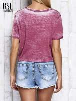 Bordowy t-shirt cropped DIMEPIECE                                  zdj.                                  2