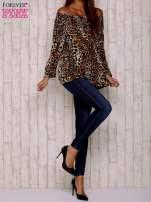 Brązowa bluzka motyw panterki