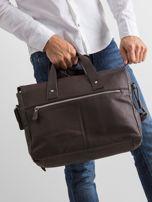 Brązowa męska torba z odpinanym paskiem                                  zdj.                                  2