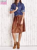 Brązowa plisowana spódnica midi                                  zdj.                                  6