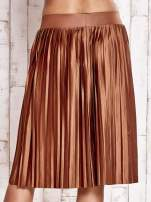 Brązowa plisowana spódnica midi                                  zdj.                                  7