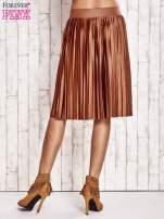 Brązowa plisowana spódnica midi                                  zdj.                                  3