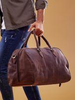 Brązowa skórzana męska torba podróżna                                  zdj.                                  10