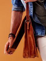 Brązowa torba męska na ramię ze skóry naturalnej                                  zdj.                                  5