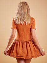 Brązowa zamszowa sukienka                                  zdj.                                  2